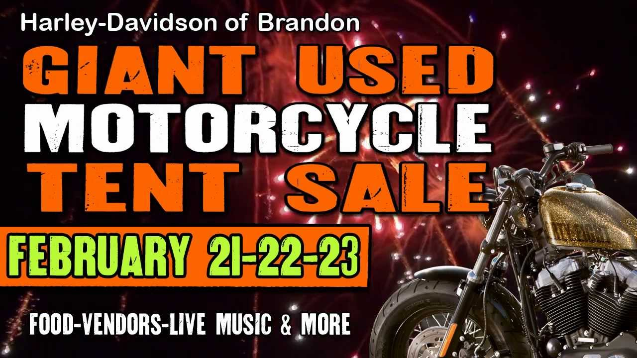 Harley Davidson Giant Used Motorcycle Tent Sale - Brandon FL  sc 1 st  YouTube & Harley Davidson Giant Used Motorcycle Tent Sale - Brandon FL ...