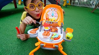 Clappy Pretend Play Food BBQ Playset Kitchen Toys | Cooking Play Toy for Kids Toddler