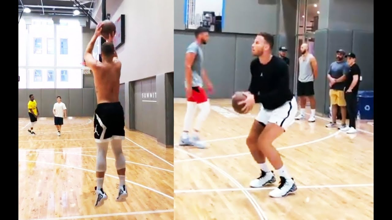 Blake Griffin CAN'T MISS a SHOT !! In shooting practice !!!