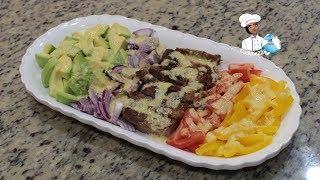 Avocado and steak salad    Salade steak avocado