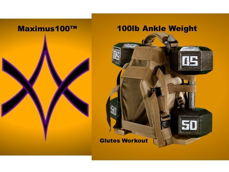 Maximus100 - 100 lb Ankle Weights - Glutes Workout - the ultimate - YouTube