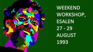 Weekend Workshop, Esalen: 27-29 August, 1993 ~ Terence McKenna