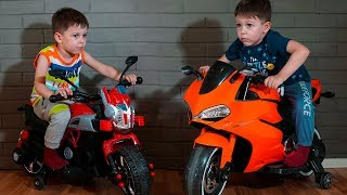 Kid ride on toys Sportbike Pocket Bike and cars Compilation video from T-Play