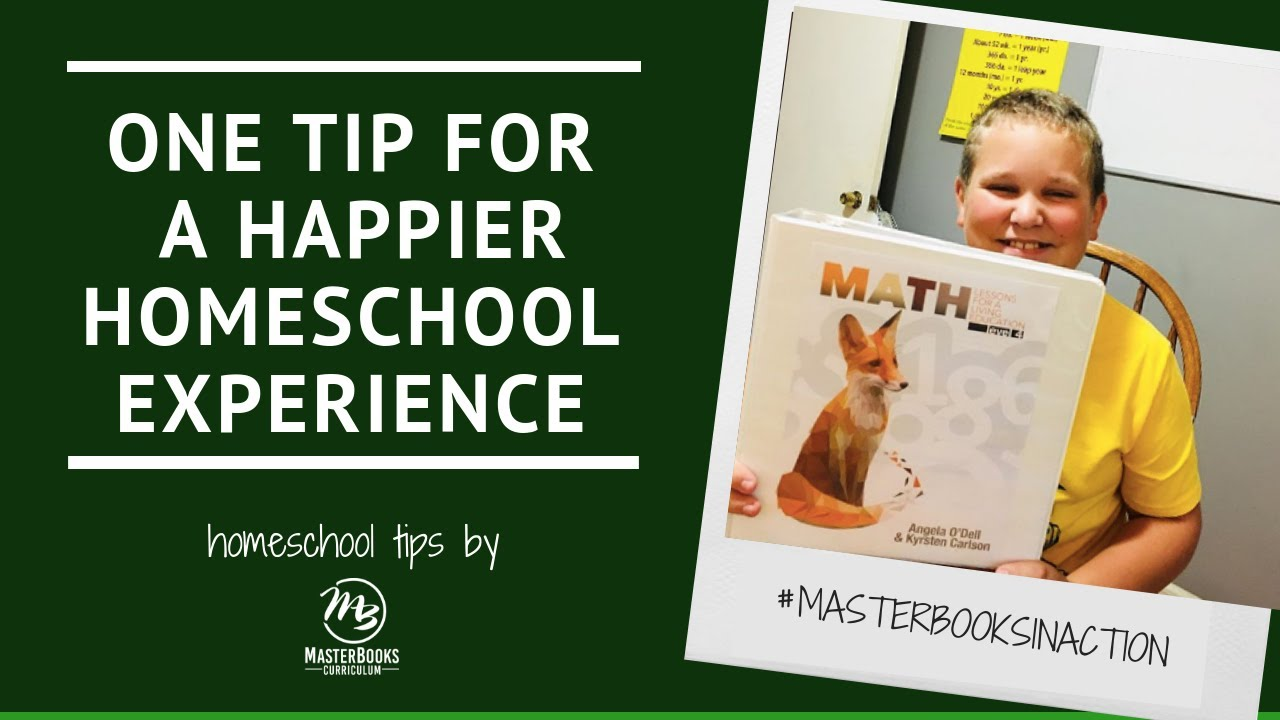 One Tip for a Happier Homeschool // Master Books Homeschool Teaching Tips image