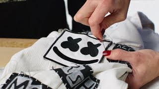 How To Sew a Patch on Clothing and Jackets Marshmello DIY Fashion Hacks
