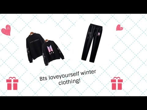 [unboxing] BTS Love Yourself Winter Clothing