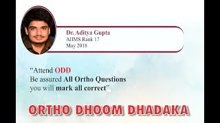 """Attend ODD, Be Assured You Will Mark All Ortho Questions Right"""""""