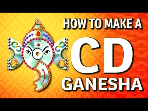 How To Make A Wall Hanging Cd Ganesha Waste Cd Craft
