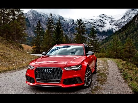 2017 605hp Audi RS6 Avant Performance in the Alps - Driving, exhaust, exterior etc