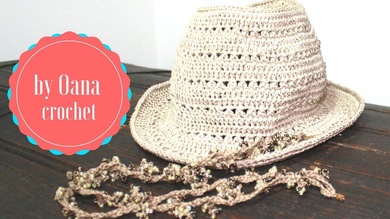 Crochet Fedora Summer Hat Youtube
