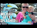 Baby Soaked by HUGE Whale Splash