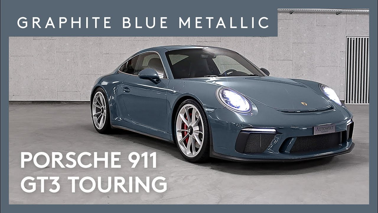 2018 porsche 911 gt3 touring graphit blau metallic youtube. Black Bedroom Furniture Sets. Home Design Ideas