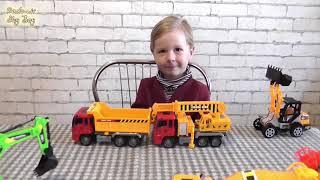 Обзор строительной спецтехники, набор игрушек