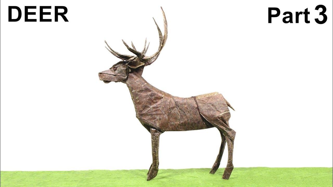 origami deer tutorial satoshi kamiya part 3 ��� ��
