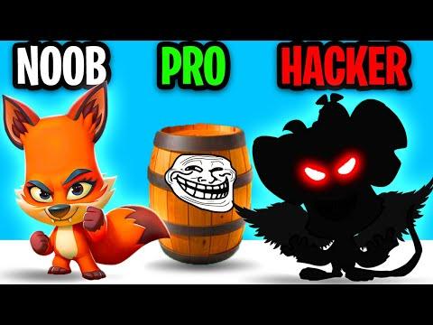 Can We Go NOOB vs PRO vs HACKER In ZOOBA!? (FUNNY BATTLE ROYALE APP GAME!)