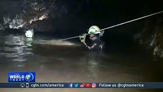 Thailand cave: 4 members of a youth football team are rescued; 9 remain inside