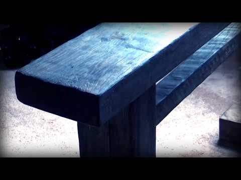 Rustic Bench DIY from Weathered Wood