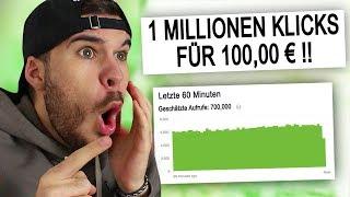 ich kaufte 1 Millionen Klicks Online um zu schauen was passiert..