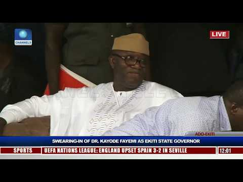 Kayode Fayemi Sworn-In As Ekiti State Governor Pt.1 |Live Event|