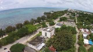 "DJI Phantom 2 Vision + "" Garapan beach road "" - Northern mariana Island, U.S.A."