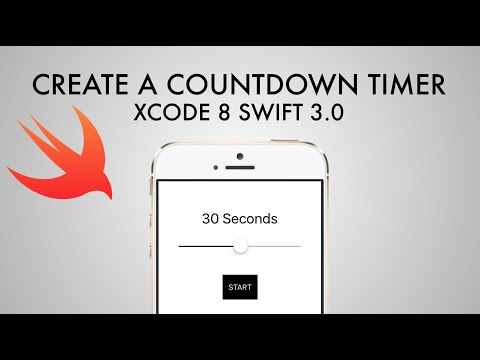 How To Make Countdown Timer App In Xcode 8 (Swift 3 0) - YouTube
