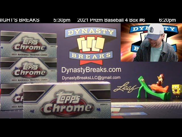 2021 Topps Chrome Baseball Card Jumbo HTA 4 Box Half Case Break #7   Sports Cards