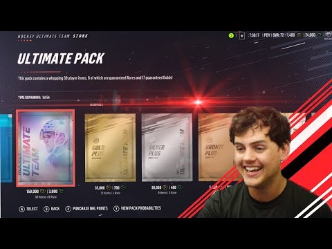 UNREAL NHL 19 PACK OPENING | CROSBY PULL ON DAY 1 !!!