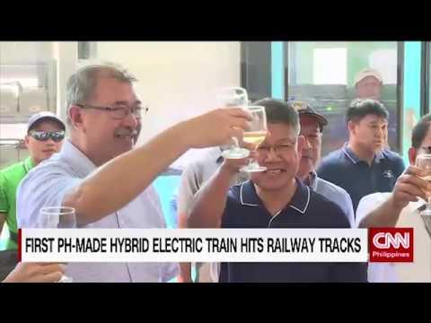 First PH made hybrid electric trains hits railway tracks
