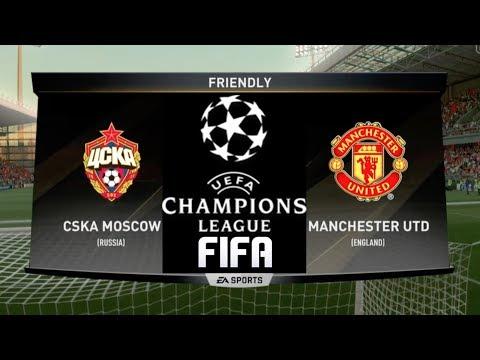FIFA PREDICTS - CSKA MOSCOW VS MANCHESTER UNITED - CHAMPIONS LEAGUE 2017/18!