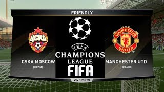 FIFA PREDICTS - CSKA MOSCOW VS MANCHESTER UNITED - CHAMPIONS LEAGUE 2017/18!