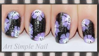 Китайская роспись ногтей для начинающих | One Stroke Flower Nails