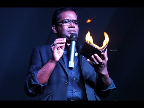 Indian magician Raja Moorthy performed in Rwanda