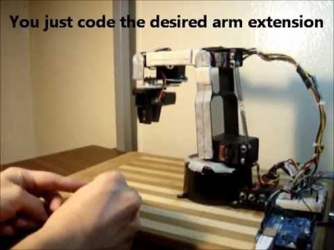 Robotic Arm with Inverse Kinematics