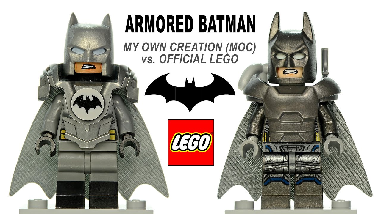 LEGOR Armored Batman Minifigure Official Vs My Own Creation MOC DC Super Heroes
