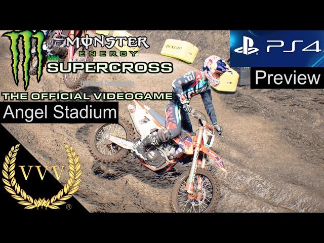 Monster Energy Supercross PS4 Preview | Angel Stadium 1 - Hard AI - No Comms
