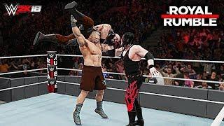 WWE 2K18 Royal Rumble 2018 - Brock Lesnar vs Braun Strowman vs Kane   Universal Championship Match!