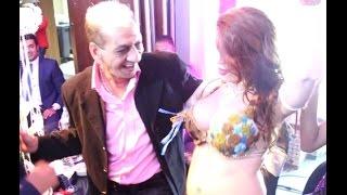 محمد السبكي يرقص مع الراقصة الأرجنتينية بريندا في حفل زفاف نرمين ماهر