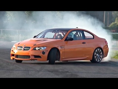 BMW M3 E92 Drift Build with Akrapovic Exhaust @ Track!