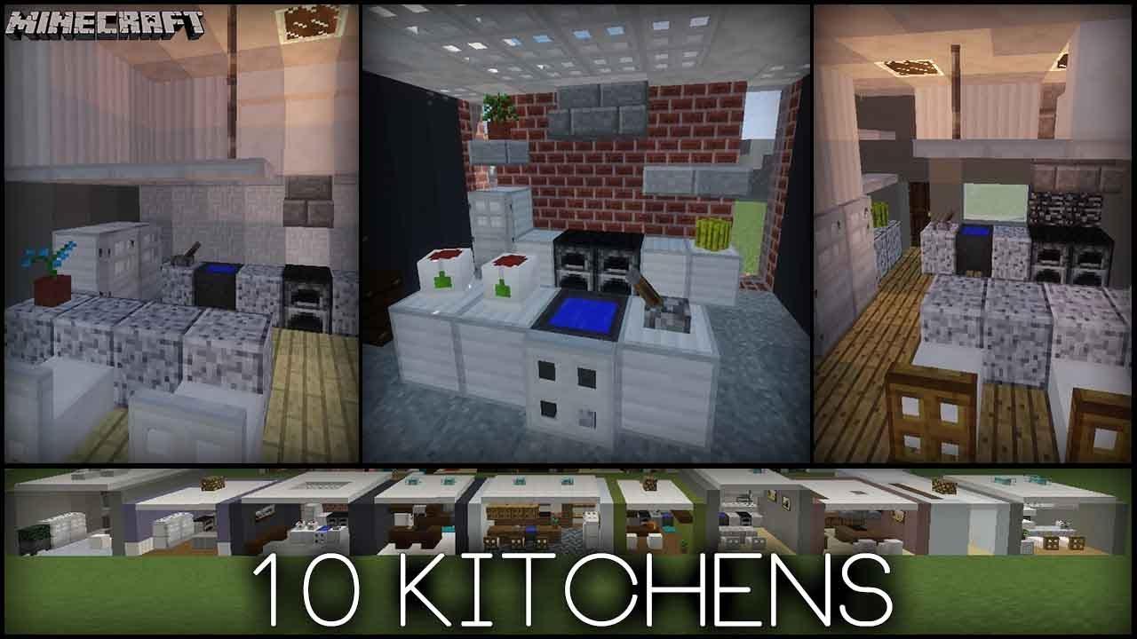 Minecraft , 10 Kitchen Designs! (Plus tips!)