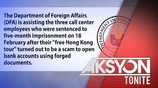 DFA, tinulungan ang tatlong Pinoy na naaresto sa Hong Kong