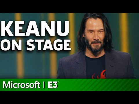 Cyberpunk 2077 - Keanu Reeves On Stage | Microsoft Xbox E3 2019