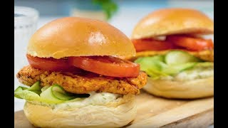 Speedy Sweet Chilli Chicken & Salad Burgers | Family Recipes