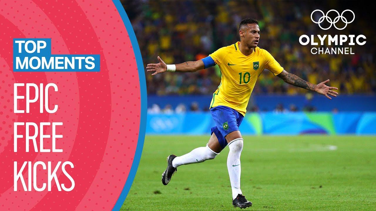 Top 10 Free Kicks At The Olympics   Top Moments