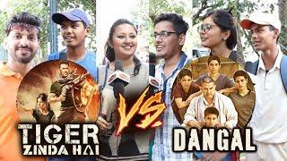 Salman's Tiger Zinda Hai Vs Aamir's Dangal - PUBLIC REACTION - Tiger फाड़ देगा