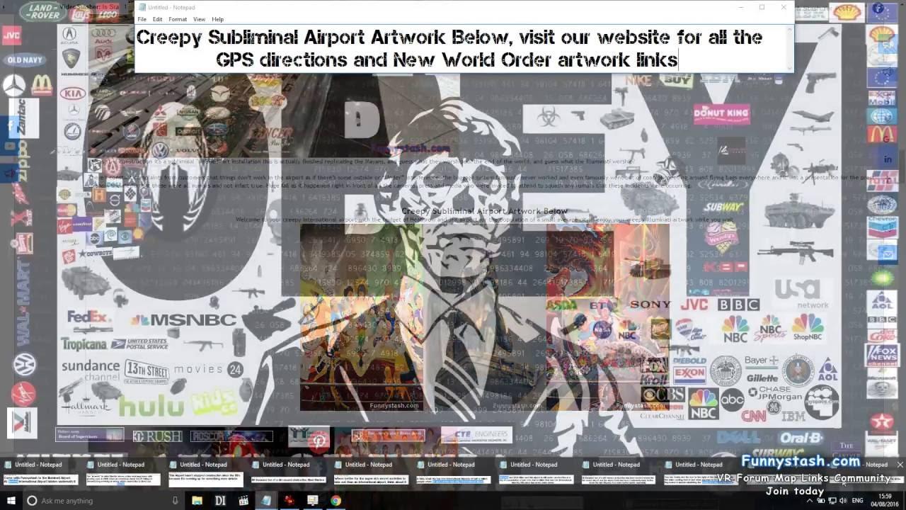 Illuminati Airport Denver Google Map Locations on