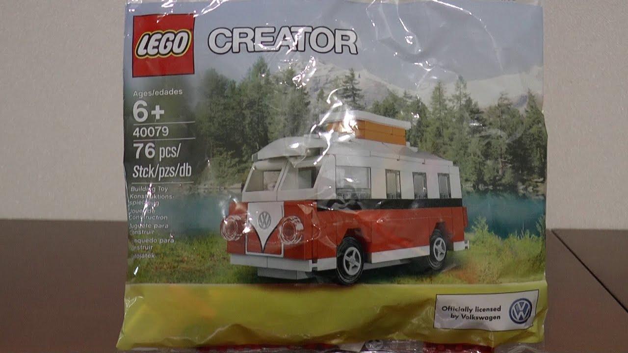 17cb862750 LEGO Creator 40079 Mini VW Campervan - YouTube