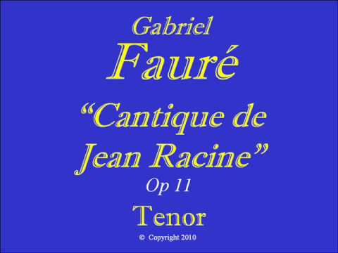 Faure-Cantique-Tenor.wmv