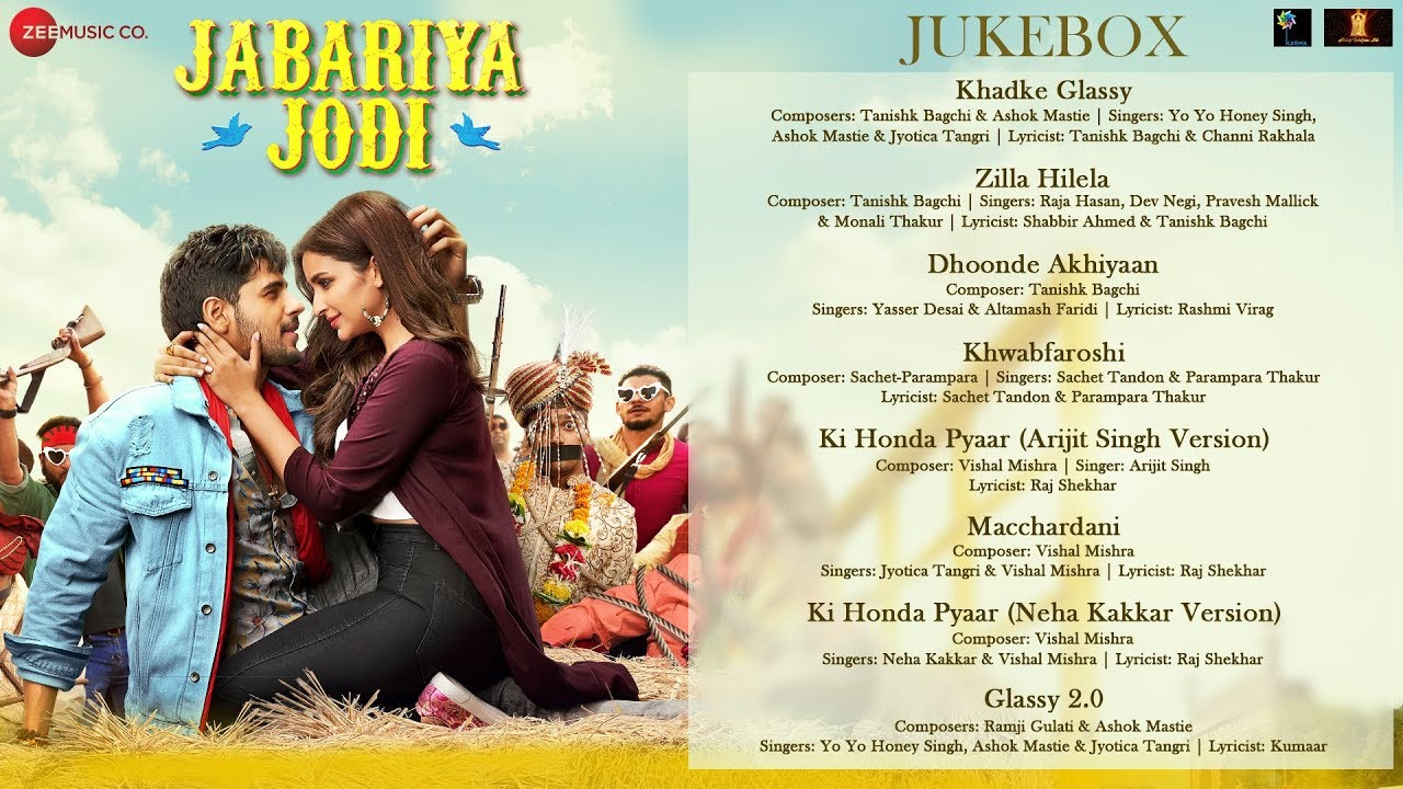 Jabariya Jodi – Full Movie Audio Jukebox | Sidharth Malhotra & Parineeti Chopra