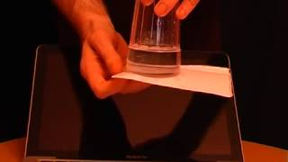 The Amazing Glass of Water Science Stunt