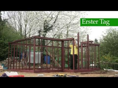 gew chshaus victorian classic greenhouse t model aufbau teil 2 palmen gmbh youtube. Black Bedroom Furniture Sets. Home Design Ideas